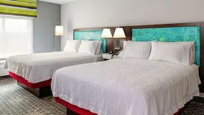 Premium bedding, blackout drapes, iron/ironing board, bed sheets