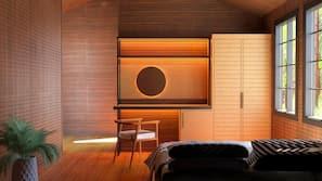 Minibar, bed sheets