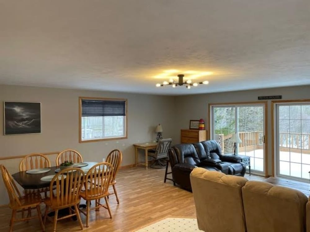 Living Room, Pentwater River House Frontage Direct on River Overlooking 100s of Wooded Acres