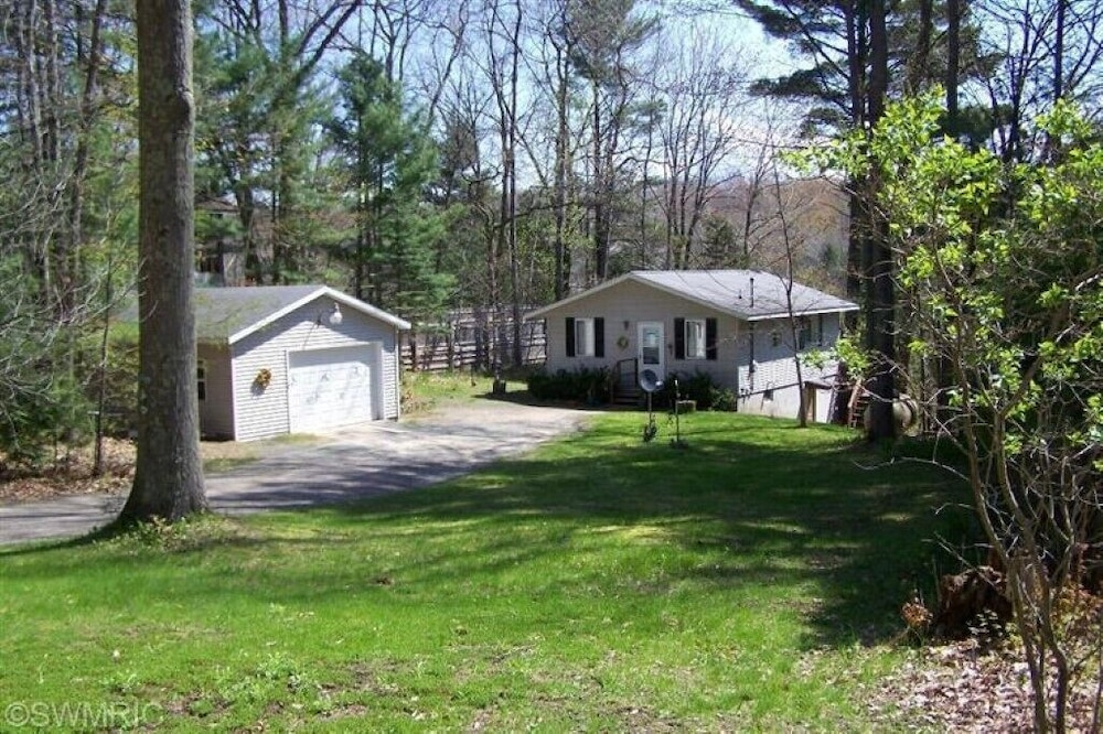 Property Grounds, Pentwater River House Frontage Direct on River Overlooking 100s of Wooded Acres