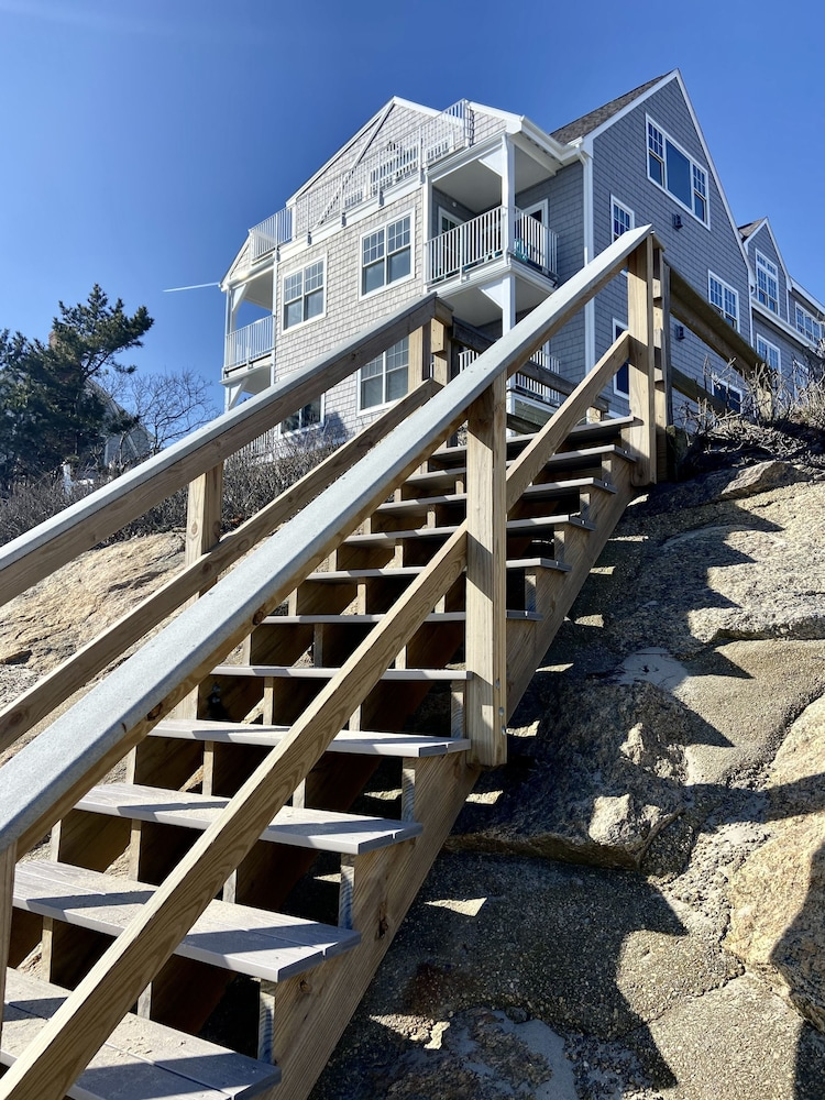 Exterior, Cape Cod Oceanfront Beachfront New Condo With Ocean View & Private Sandy Beach!