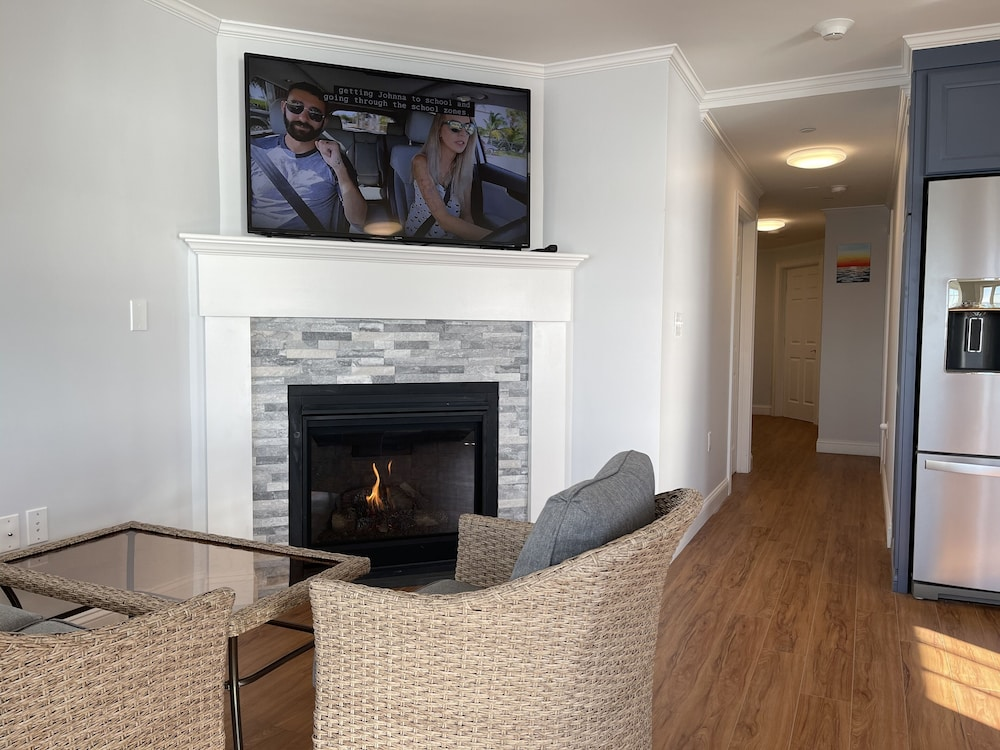 Living Room, Cape Cod Oceanfront Beachfront New Condo With Ocean View & Private Sandy Beach!