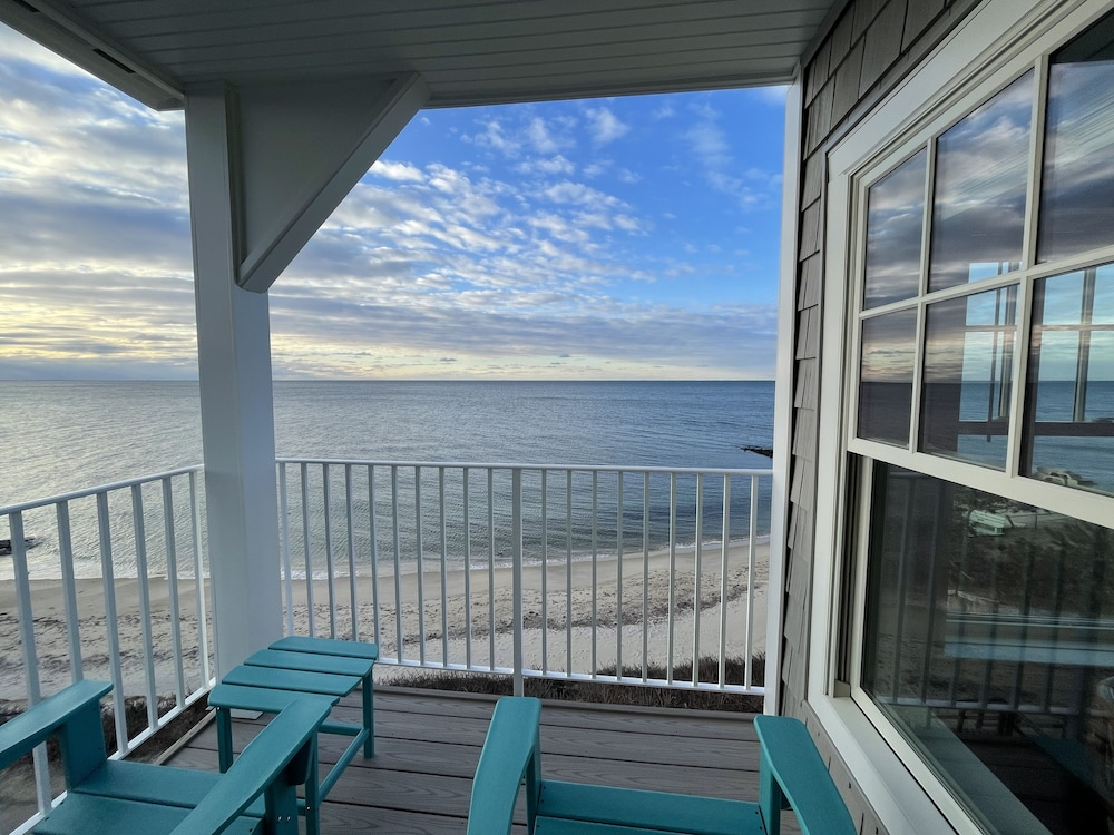 Balcony, Cape Cod Oceanfront Beachfront New Condo With Ocean View & Private Sandy Beach!