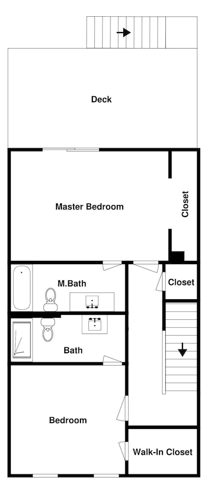 Floor plan, 4061stst 2 Bedroom Townhouse