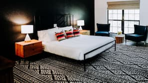 Premium bedding, Tempur-Pedic beds, blackout drapes, iron/ironing board