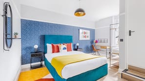 Memory foam beds, blackout drapes, iron/ironing board, free WiFi
