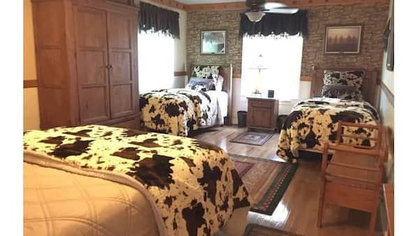 3 bedrooms, desk, travel crib, WiFi