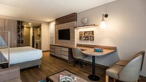 In-room safe, desk, laptop workspace, blackout drapes