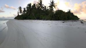 On the beach, snorkeling, kayaking, fishing