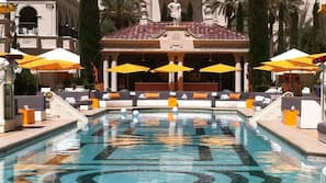 6 outdoor pools, cabanas (surcharge), sun loungers