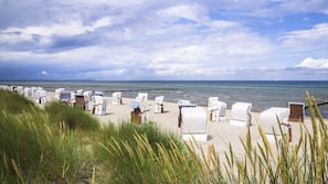Am Strand, Cabañas (gegen Gebühr)