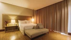 Premium bedding, minibar, blackout curtains, soundproofing