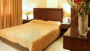 Minibar, in-room safe, blackout curtains, cots/infant beds