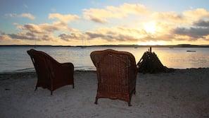 Private beach, beach shuttle, beach towels, snorkelling