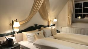 Hochwertige Bettwaren, Zimmersafe, kostenpflichtige Zustellbetten