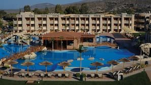 2 indoor pools, outdoor pool, pool umbrellas, sun loungers