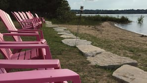 Private beach, beach volleyball