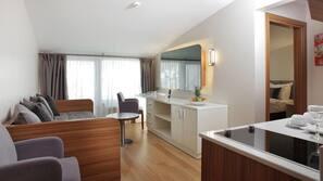 Luxe beddengoed, een minibar, een kluis op de kamer, gratis wifi