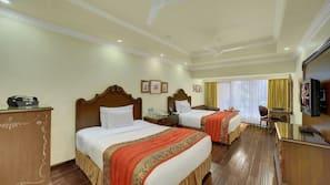Egyptian cotton sheets, premium bedding, memory-foam beds, free minibar