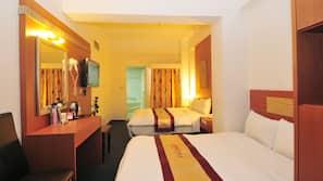 Premium bedding, free minibar items, blackout curtains, free WiFi