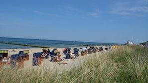 Am Strand, Motorbootfahrt