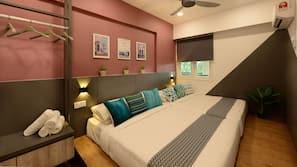 3 bedrooms, desk, iron/ironing board, free WiFi