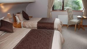Select Comfort beds, blackout curtains, iron/ironing board, free WiFi