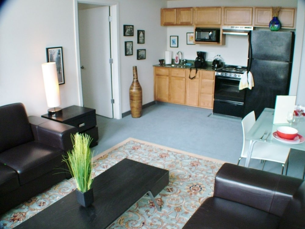 Living Area, Pittsfield Apartments + Suites