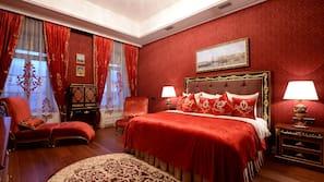 Egyptian cotton sheets, premium bedding, memory-foam beds, minibar