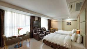 高級寢具、羽絨被、Select Comfort 床墊、房內夾萬