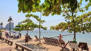 전용 해변, 일광욕 의자, 비치 타월, 해변 마사지