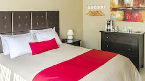 Down comforters, Select Comfort beds, free WiFi