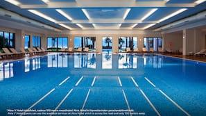 Indoor pool, 3 outdoor pools, sun loungers