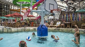 Indoor pool, seasonal outdoor pool, cabanas (surcharge)