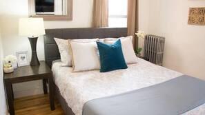 1 bedroom, iron/ironing board, travel crib, WiFi