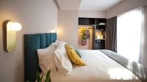 Hypo-allergenic bedding, memory foam beds, free minibar items