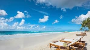 On the beach, white sand, beach massages, scuba diving