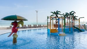 2 outdoor pools, open 9:00 AM to 8:00 PM, pool umbrellas, sun loungers