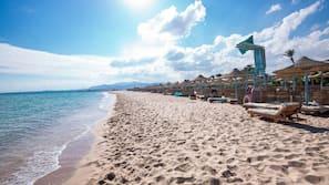 Plage privée, serviettes de plage, plongée sous-marine, ski nautique