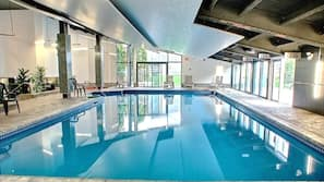 Indoor pool, seasonal outdoor pool