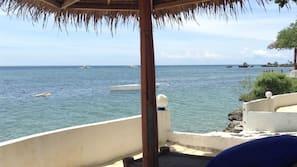 Private beach, free beach cabanas, sun loungers, beach umbrellas