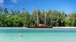 On the beach, snorkelling, kayaking