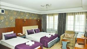 Egyptian cotton sheets, premium bedding, memory foam beds, minibar