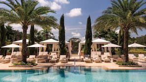 3 outdoor pools, pool cabanas (surcharge), pool umbrellas