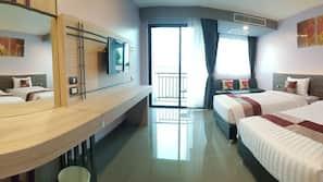 客房内保险箱、遮光窗帘、熨斗/熨板、免费儿童床/婴儿床