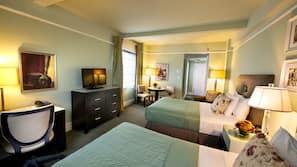 Pillow top beds, in-room safe, desk, blackout curtains