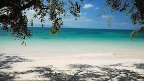Private beach, sun-loungers, beach towels, kayaking