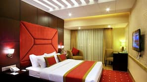 Down duvets, Select Comfort beds, minibar, in-room safe