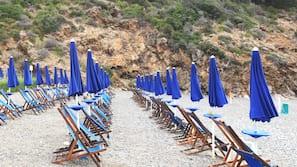 หาดส่วนตัว, เก้าอี้อาบแดด, ร่มชายหาด, บาร์ริมหาด
