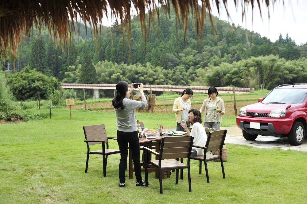 Garden, Miyama Futon & Breakfast Thatched Cottages